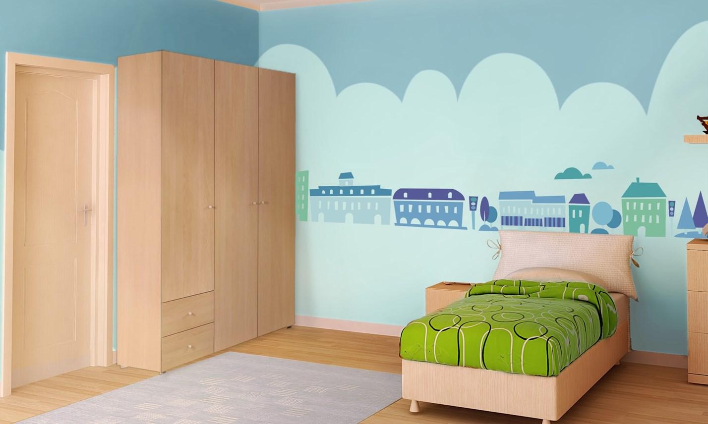 Stickers murali bambini cameretta greca per bambini blu for Decorazioni camerette bambini